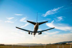 飛行機 着陸イメージ