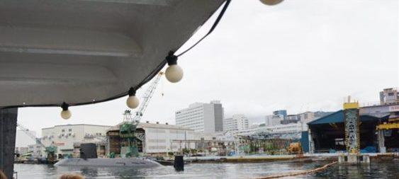 海上自衛隊の潜水艦が停泊していました!