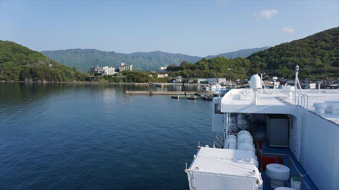小豆島坂手港に到着!