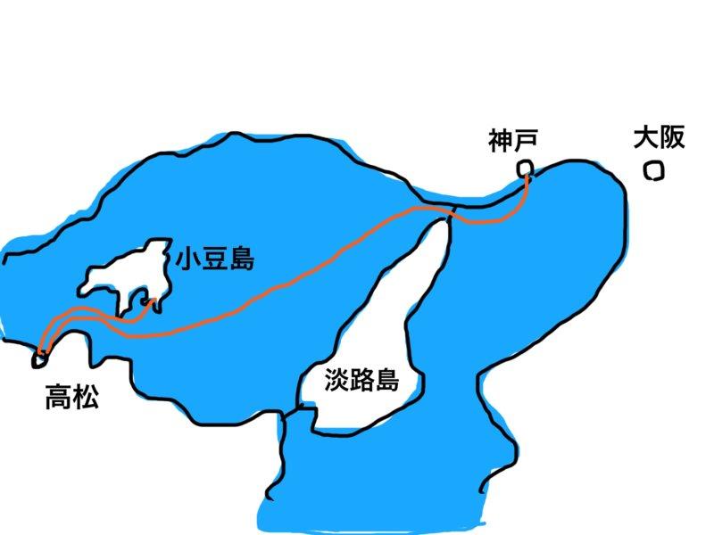 神戸観光から小豆島へ
