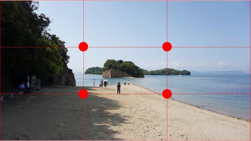 写真2(構図ガイド線付き)