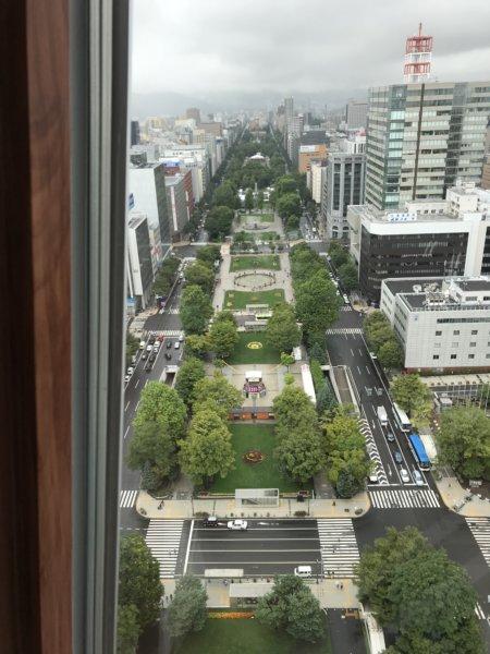 札幌の大通公園のテレビ塔からの眺め。