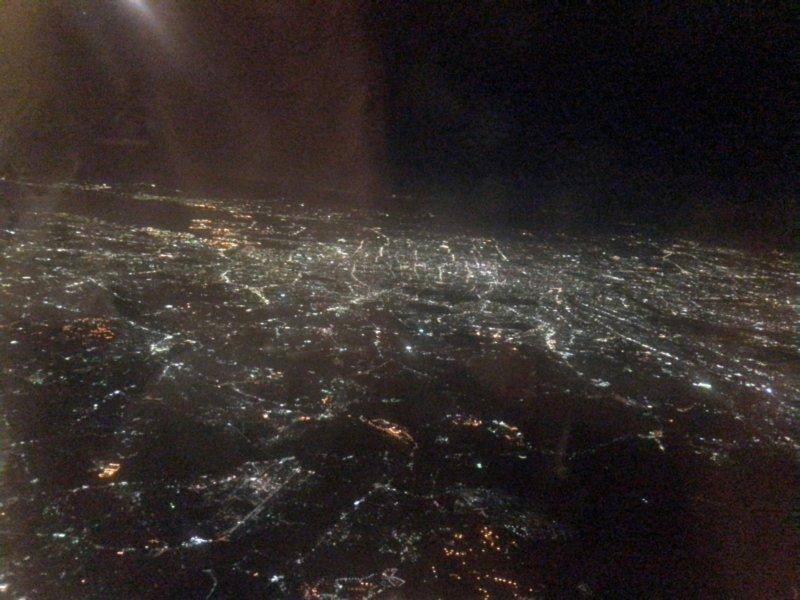 名古屋の街を飛行機から撮影